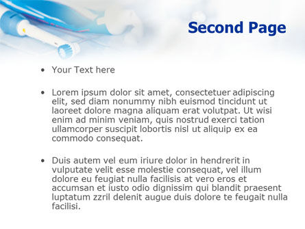 Toothbrushes in the Glass PowerPoint Template, Slide 2, 01366, Medical — PoweredTemplate.com