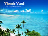 Palm Trees at the Seaside PowerPoint Template#20