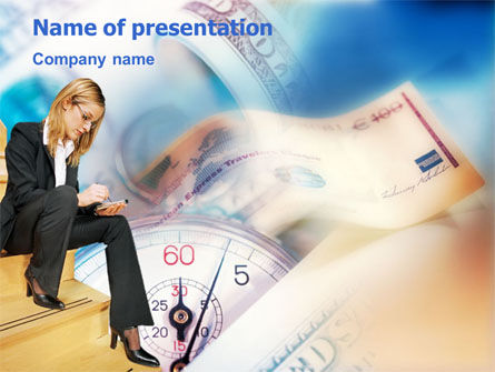 Financial/Accounting: Money Management PowerPoint Template #01369