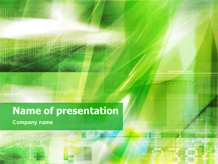 Abstract/Textures: Groen PowerPoint Template #01370