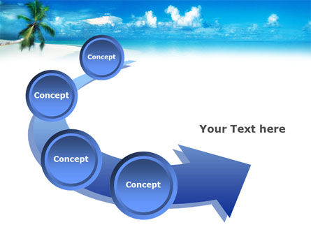 Beach Girl PowerPoint Template Slide 6