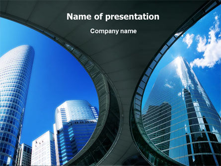Modern Business Architecture PowerPoint Template, 01374, Business — PoweredTemplate.com