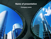 Business: Modello PowerPoint - L'architettura moderna di affari #01374