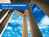Construction: Ancient Portico PowerPoint Template #01376