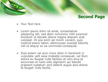 Pea Pod PowerPoint Template Slide 2