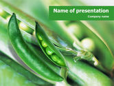 Agriculture: Pea Pod PowerPoint Template #01377