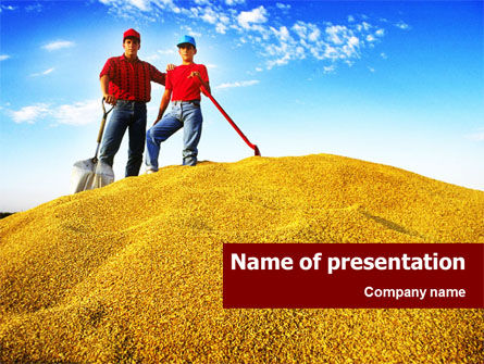 Heap of Grain PowerPoint Template