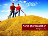 Agriculture: Heap of Grain PowerPoint Template #01379