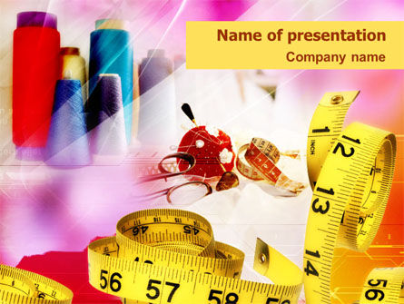 Sewing Stuff PowerPoint Template, 01381, Careers/Industry — PoweredTemplate.com