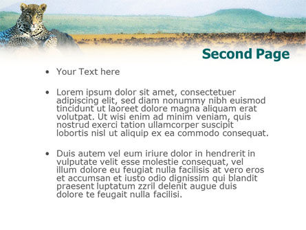 Leopard on the Rock PowerPoint Template, Slide 2, 01383, Animals and Pets — PoweredTemplate.com