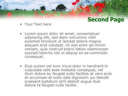 Poppy Field PowerPoint Template Slide 2