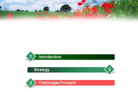 Poppy Field PowerPoint Template Slide 3