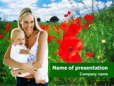 People: Poppy Field PowerPoint Template #01387