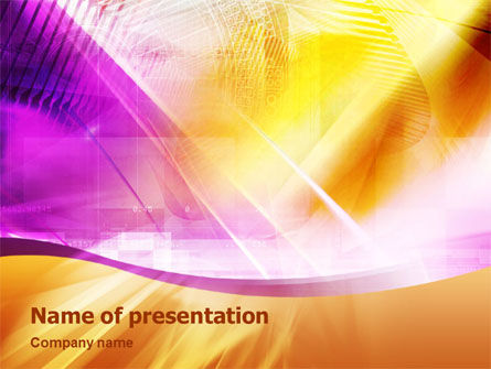 Violet & Yellow PowerPoint Template