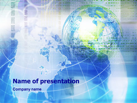 Global View PowerPoint Template, 01389, Global — PoweredTemplate.com
