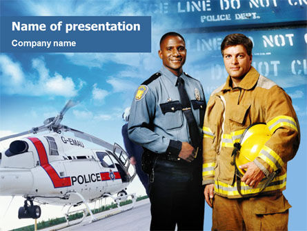 People: Rescue Team PowerPoint Template #01391