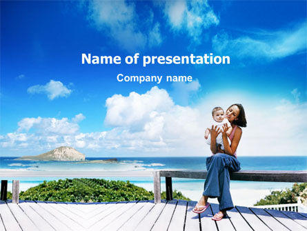 Near the Sea PowerPoint Template, 01395, People — PoweredTemplate.com