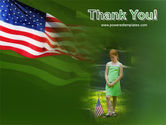 Little Girl In Memorial Day Free PowerPoint Template#20