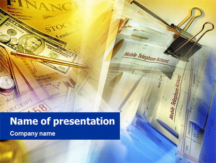 Financial Press PowerPoint Template, 01398, Financial/Accounting — PoweredTemplate.com