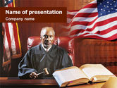Legal: Court and Justice PowerPoint Template #01399