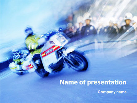People: Road Police PowerPoint Template #01401