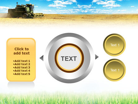 Harvester in the Field PowerPoint Template Slide 12