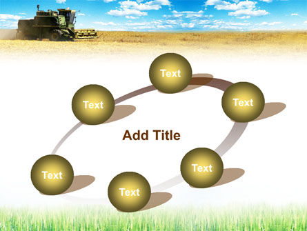 Harvester in the Field PowerPoint Template Slide 14