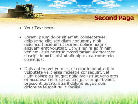 Harvester in the Field PowerPoint Template Slide 2