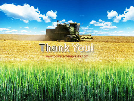 Harvester in the Field PowerPoint Template Slide 20