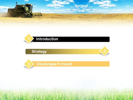 Harvester in the Field PowerPoint Template Slide 3