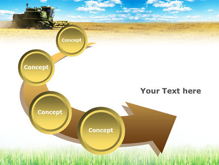 Harvester in the Field PowerPoint Template Slide 6