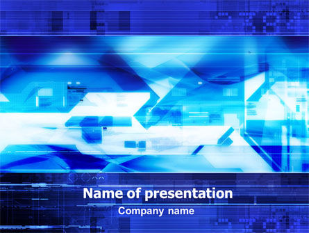 Abstract/Textures: Dark Blue Theme PowerPoint Template #01404