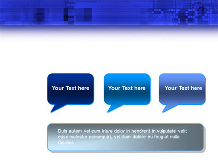 Dark Blue Theme PowerPoint Template Slide 9
