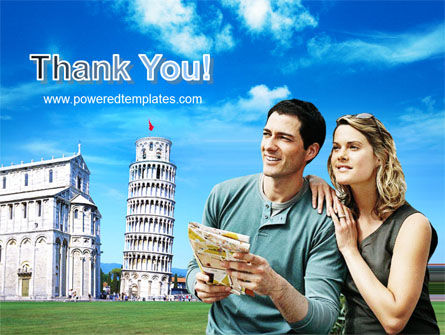 Tourists & Pisa PowerPoint Template Slide 20