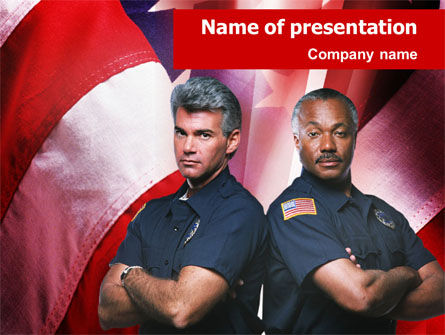 People: Policemen PowerPoint Template #01407