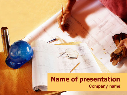 Construction: Planning And Building PowerPoint Template #01408