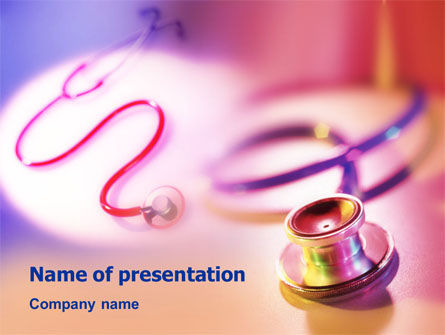Phonendoscope Medical PowerPoint Template, 01411, Medical — PoweredTemplate.com