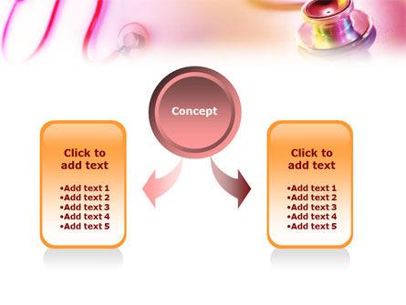 Phonendoscope Medical PowerPoint Template, Slide 4, 01411, Medical — PoweredTemplate.com