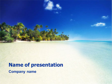 Nature & Environment: Tropical Beach PowerPoint Template #01413