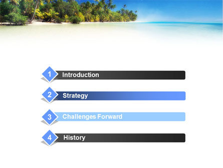 Tropical Beach PowerPoint Template, Slide 3, 01413, Nature & Environment — PoweredTemplate.com