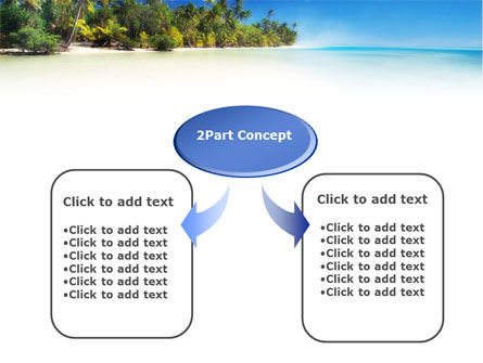 Tropical Beach PowerPoint Template, Slide 4, 01413, Nature & Environment — PoweredTemplate.com