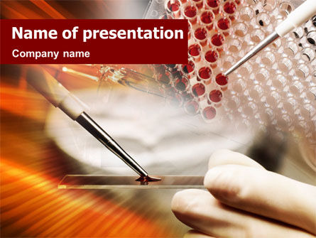 Technology and Science: Medical Testing And Analysis PowerPoint Template #01414