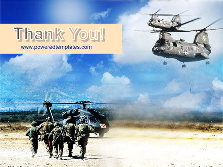 Military Helicopter Forces PowerPoint Template Slide 20