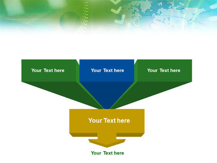 Green Informational Abstract PowerPoint Template Slide 3
