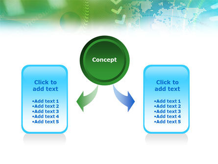 Green Informational Abstract PowerPoint Template Slide 4