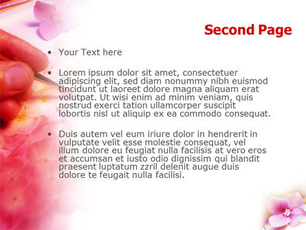 Painting & Flowers PowerPoint Template Slide 2