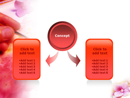 Painting & Flowers PowerPoint Template Slide 4