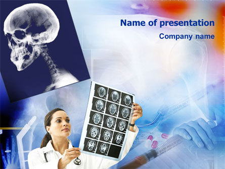 Medical: Head Trauma PowerPoint Template #01418