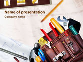 Utilities/Industrial: Tools Belt PowerPoint Template #01420