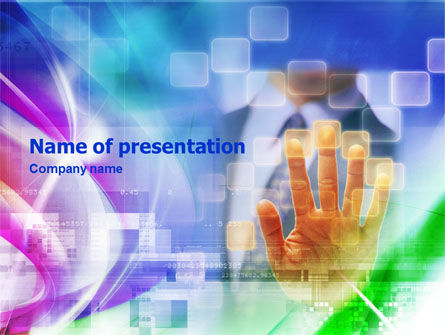 Business Concepts: Animated Hand PowerPoint Template #01423